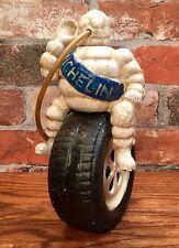 Michelin Man Bibendum Tire Riding Vintage Cast Iron Advertising Model Statue