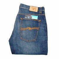 Nudie Jeans Grim Tim Light Rich Blau Herren Jeans IN Größe 34/34