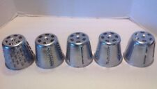 5 Cones For Salad Master King Kutter Food Processor Cones #'s 1, 2, 3, 4, 5