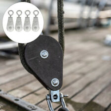 4pcs Miniature Cable Pulley Crane Wire Rope Hoisting Pulley For Industry Home