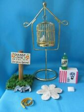 Dollhouse Miniatures Group#5 8Pcs Bird Cage Soda Sign Doily Soap Kfc Tape Eagle