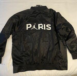 Nike Men's Air Jordan Paris Saint German PSG Black Full-Zip Jacket BQ8369-010 XL