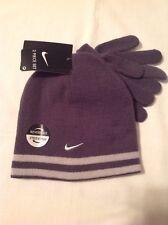 Boys Youth Nike 2pc Reversible Winter Hat Gloves 8-20 Dark Gray NWT