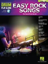 Easy Rock Songs Drum Play-Along Book and Audio New 000148143
