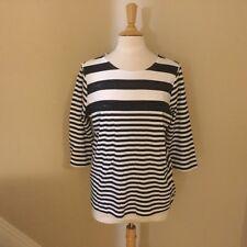 CJ BANKS Fun Navy & White 3/4 Sleeve Shirt -  NWOT - Size P/XL