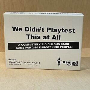 Asmadi Games We Didn't Playtest This at All with Bonus Chaos Pack