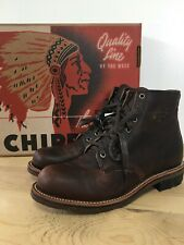 "Chippewa Men's 6"" Smith Briar Pitstop #1901G25 Leather Boots Round Toe Size 9M"