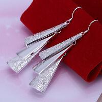 Damen Ohrring Herz Ohrstecker Ohrringe Creolen pl. mit Sterlingsilber DO015 T::A