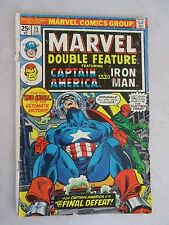 Marvel Double Feature #15 (Apr 1976, Marvel) Captain America and Iron Man