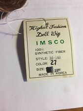 Imsco M-149Doll Wig Brunette #27 Size 13 Synthetic NWT Vintage