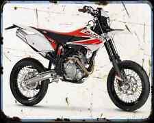 Beta Rr 400 Motard A4 Metal Sign Motorbike Vintage Aged