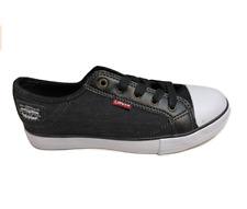 Levi's Men's Stan Buck Low Top Canvas Sneaker, Black Denim, Size 8