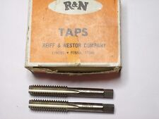 "2 - R&N Hand Threading ""Plug"" Tap, 7/16"" - 12 ""NS"", HSG, 4FL, Special Thread"