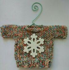 Multicolored with  Snowflake   MINI Christmas sweater Ornament