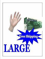 Vinyl Powder Free Gloves-FOOD SERVICE GRADE-Size Lrg-1000 / 1case FREE SHIPPING