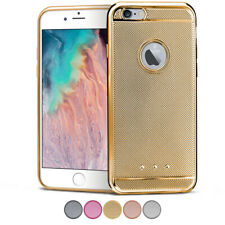 Silicona Funda Para Apple IPHONE 6S Plus 6Plus Brillantina Protectora Flexible