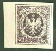 🟪 Poland - In Austria Ww1 - 1916 - 20H Legionistom Polskim - Unperforated Mnh
