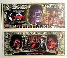 RARE: Michael Jackson (Thriller) $13 Novelty Note, Music. Buy 5 Get one FREE