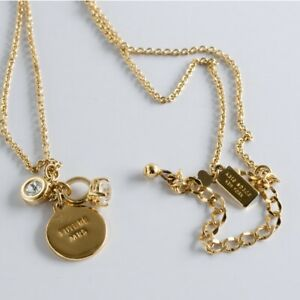 Kate Spade Signed Necklace Jewelry Future Mrs Ring Gold Tone N3