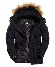 Superdry Mens SD Expedition Jacket Parka Everest Dark Navy Quilted