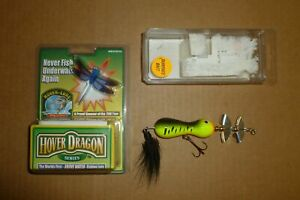 COUPLE OF CONTEMPORARY LURES HOVER DRAGON NEW IN PACKAGE AND UNKNOWN BUZZ BAIT