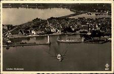 Lindau Bayern Schwaben ~1920/30 Luftbild Fliegeraufnahme Bodensee Hafen Schiff