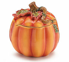 NEW Ceramic Pumpkin Planter Container & Lid Fall Decoration Burton+Burton