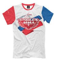 Eagles MMA russian flag colors t-shirt fight club Khabib Nurmagomedov