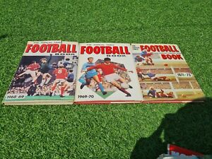 3x The Topical Times Football Books annuals 1968-1972