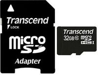 TRANSCEND MICRO SD MICRO SDHC CLASS 10 UHS-I 32GB 32G 32 G GB NEW LIFE TIME WARR