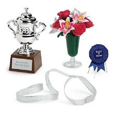 American Girl PET SHOW SET retired leash flower vase trophy ribbon G1733