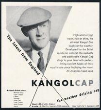1956 Kangol cap photo vintage fashion print ad