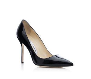 Manolo Blahnik BB Patent Heels Size 38 Height 105mm