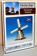 * KARTONMODELLBAU  Windmühle  SCHREIBER-BOGEN 579  SPUR H0
