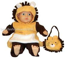 FREE USA SHIPPING - Baby Halloween LION COSTUME, 3 pc, size 3/6 months, NWT