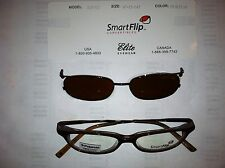 Smart flip ladies ophthalmic prescription eye glass frame with polarized clip