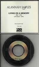 ALANNAH MYLES Living on A memory w/ RARE EDIT RADIO PROMO DJ CD single 1995