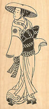 Japanese Woman Wood Mounted Rubber Stamp JUDIKINS NEW 2547H