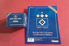 Panini HSV Hamburg 125 Jahre Display Album 2. Auflage + Extra Sticker - 50 Tüten