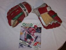 Patrik Sundstrom New Jersey Devils Game Cooper Record Breaking Hockey Gloves