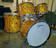 Rare Slingerland Vintage YELLOW TIGER PEARL Drum Set  1969