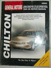 Chilton 95-98 Chrysler~Cirrus~Stratus~Sebring~Avenger~Breeze Repair Manual~20320