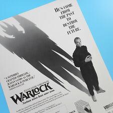 Julian Sands Warlock Original Horror Movie Poster Flyer Satan Demonic Vtg 8.5x11