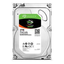 "Seagate FireCuda 2TB 3.5"" SATA Internal Hybrid Desktop Hard Drive SSHD 8GB SSD"