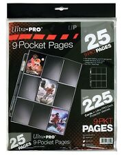 Ultra PRO Silver Series 9-Pocket Pages, 25 count pack
