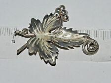 Brooch Hallmark Tn-29 Vmh Vintage Sterling Silver Grape Leaf