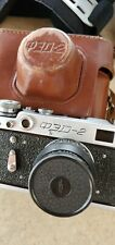 Old Version Fed-2 35mm Ussr Rangefinder Film Camera. Lenses Jupiter-8 2/50