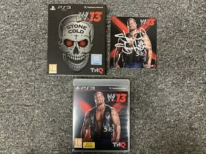 WWE 13 Stone Cold Edition PS3 Playstation 3 PERSONALLY SIGNED By Steve Austin!
