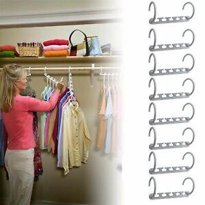 Multi Function Clothes Hangers Space Saving Closet Organizer Magic Wonder Rack