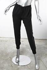 VINCE Womens Black Casual Leather Stripe Drawstring Track Pants XS NEW